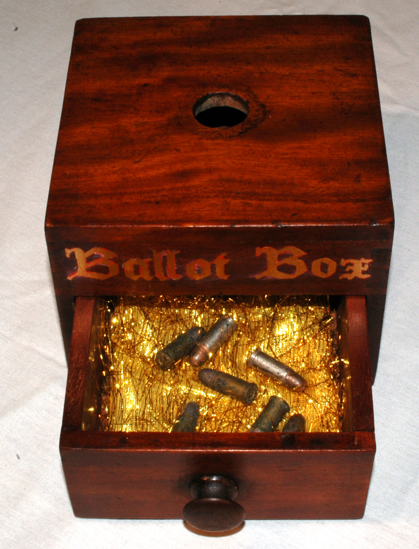 Ballot box/bullet box