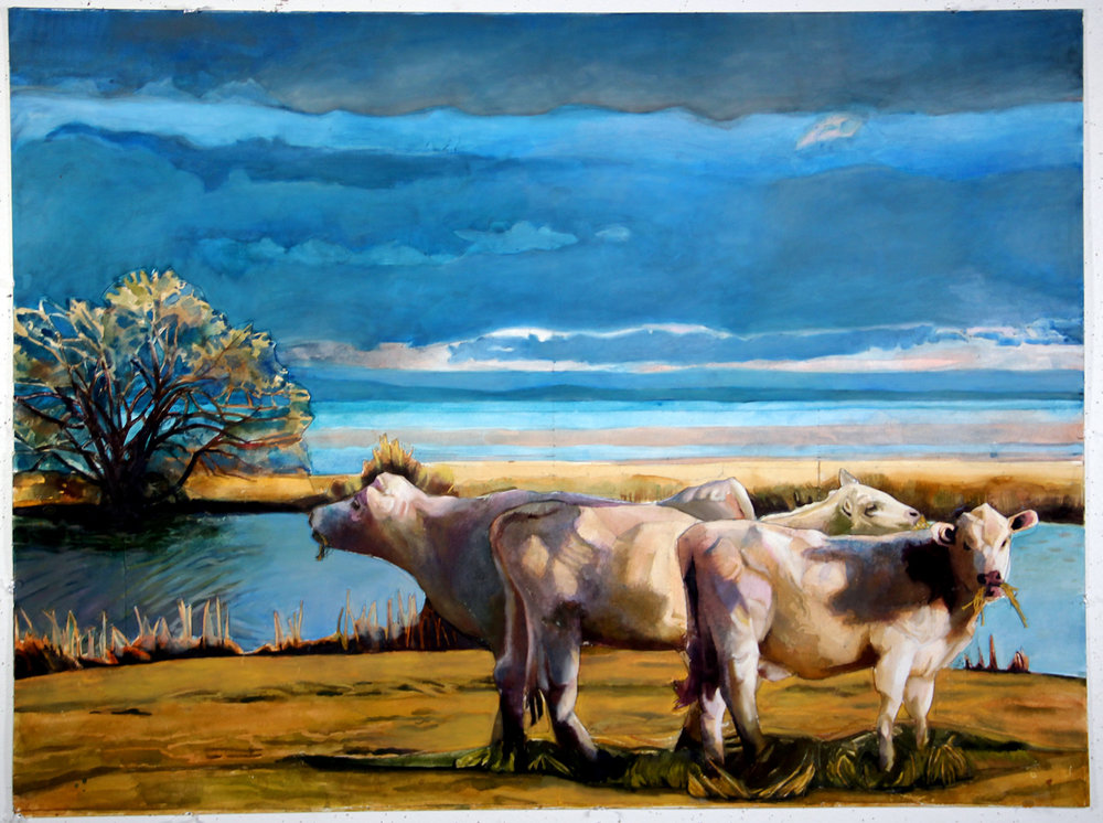 Cattle amid the Gathering Storm