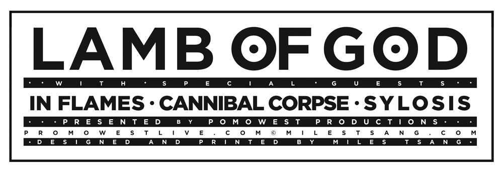 Lamb of God Typography.