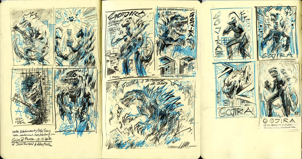 Gojira thumbnails.
