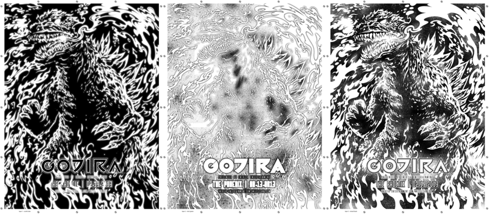 Separated Gojira layers.
