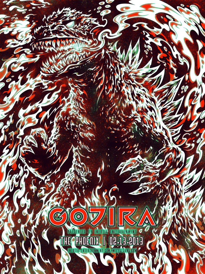 Gojira @ The Phoenix final digital design.
