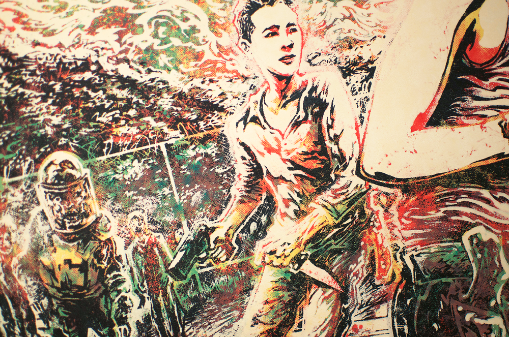 Detail of Glenn Rhee.