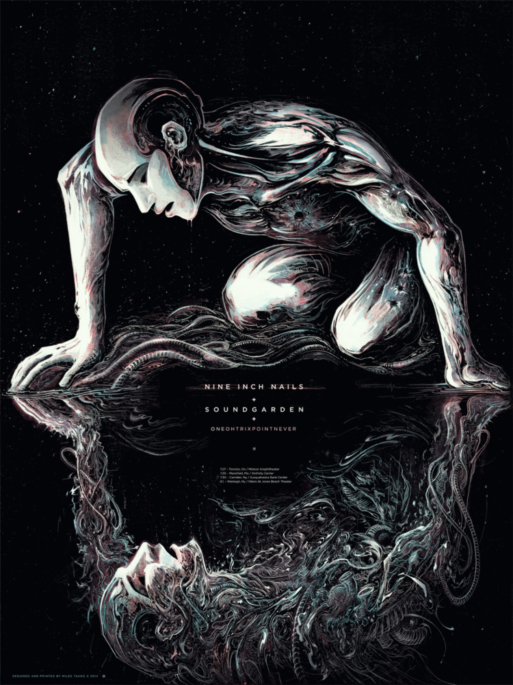Poster Process : Nine Inch Nails [with Soundgarden and Oneohtrix ...