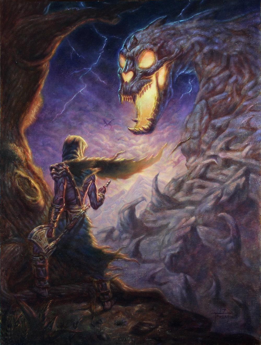 Draco Mountain  18 x 24in