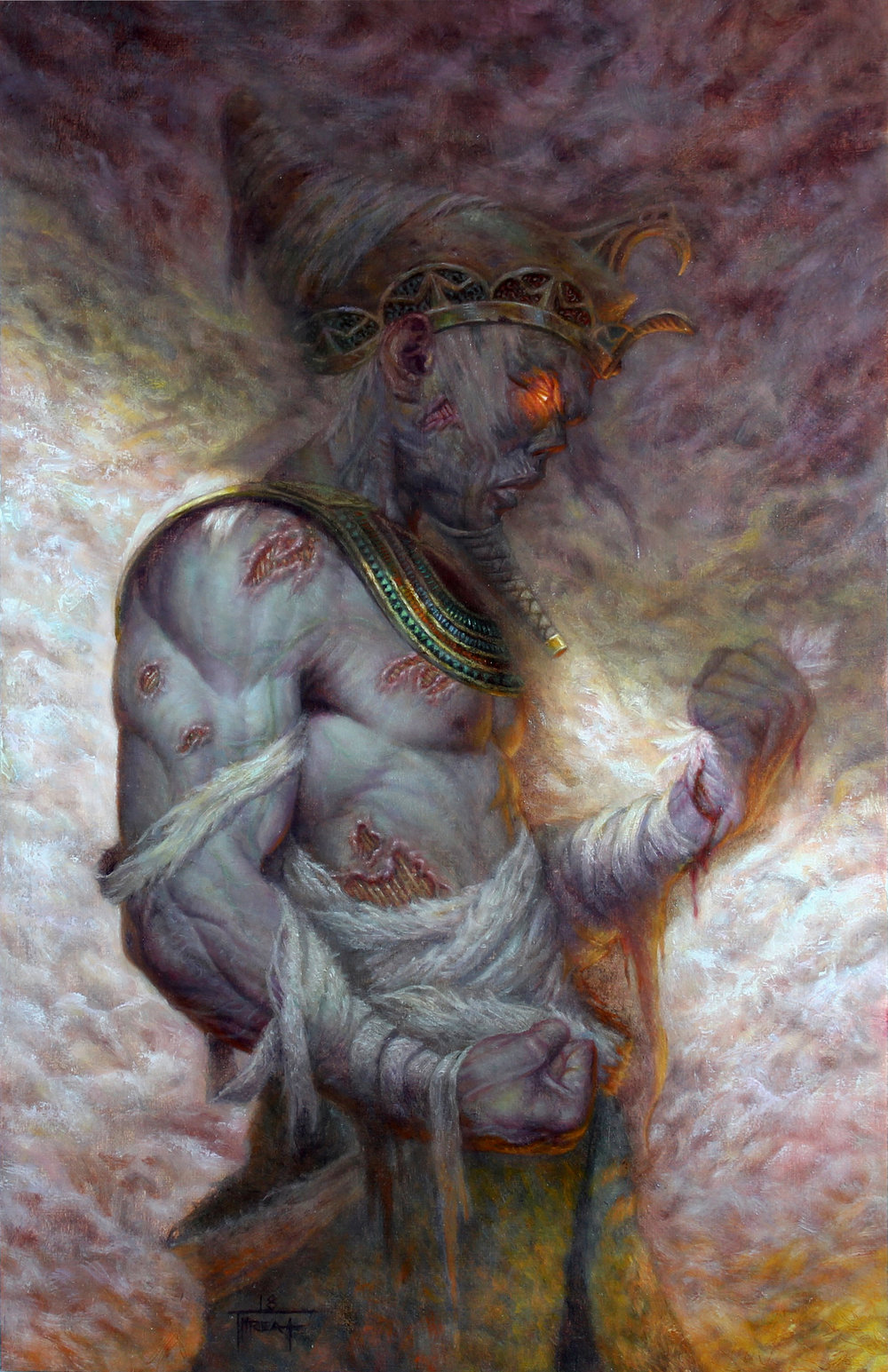 Undead Pharaoh  11 x 17in