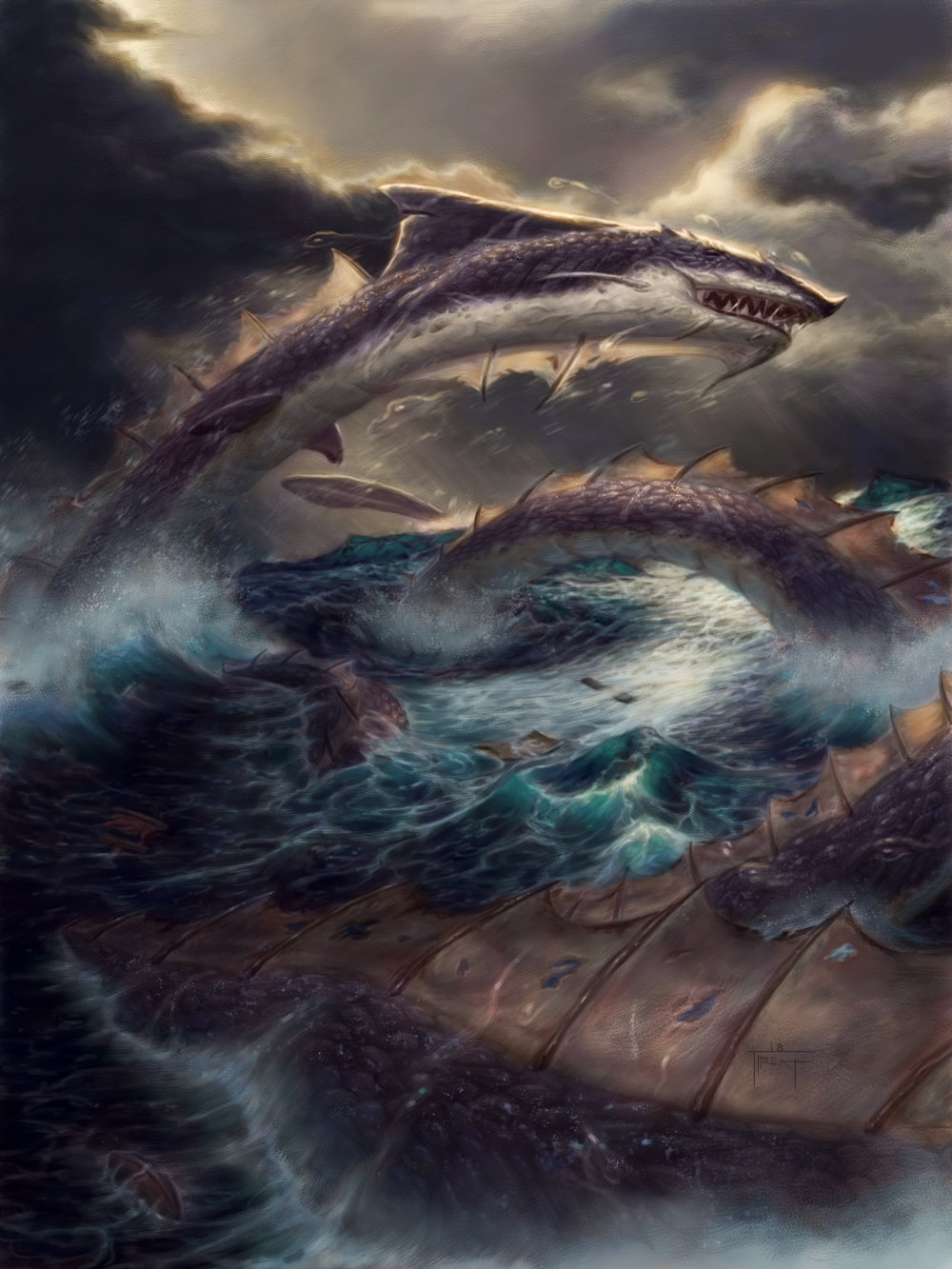 Water Serpent  Quest for the Crest Card Game