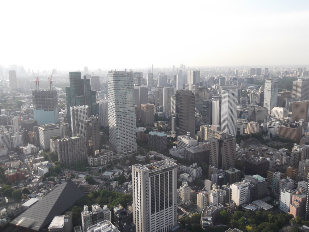 This is a view off the top of the Tokyo Tower
