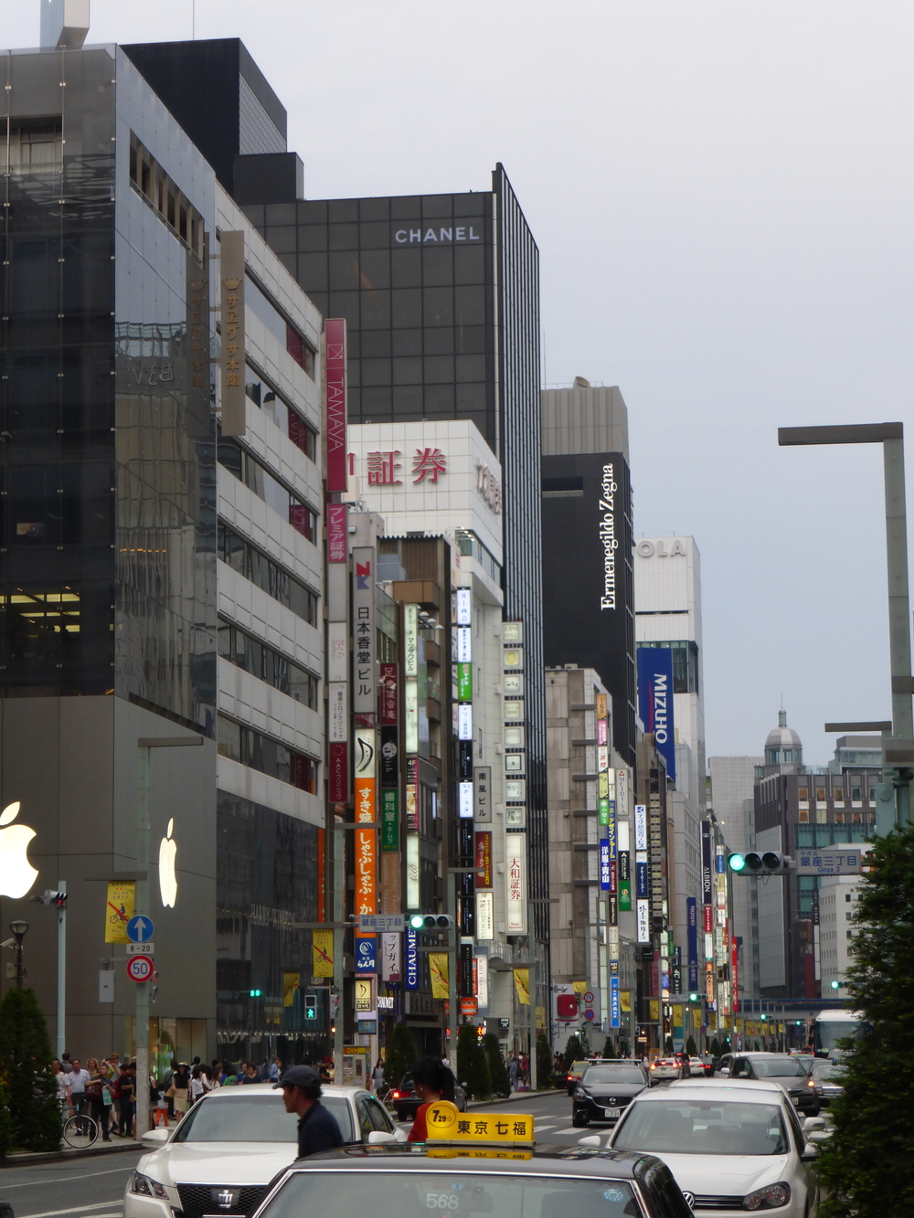 This is Ginza Street – it is just like 5th Avenue in NYC – full of shopping and stores from all around the world.