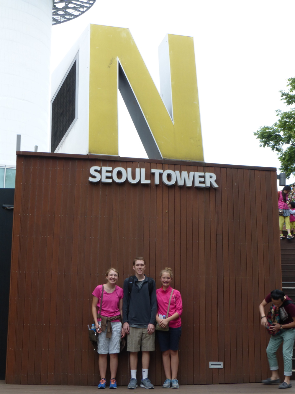 Us at N Seoul Tower before going to the very top!