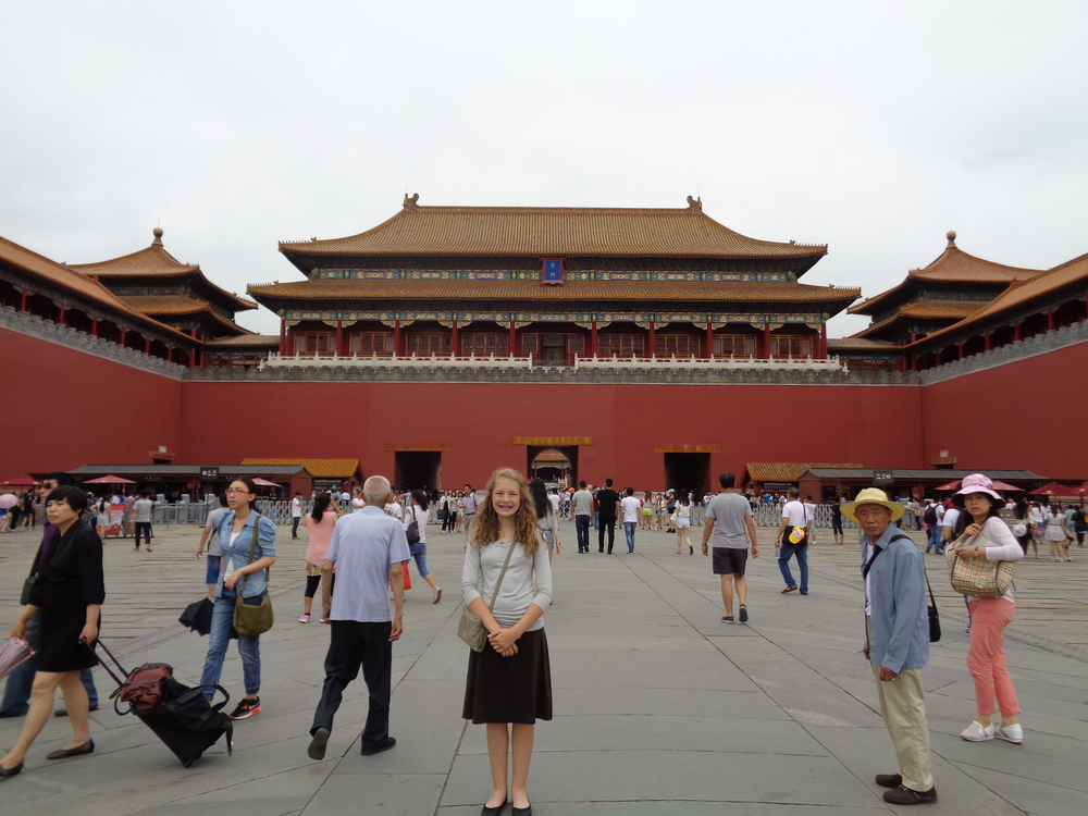 This is me at the Forbidden City.