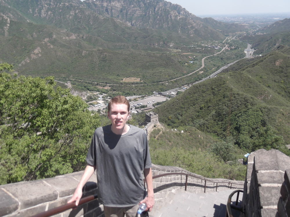 Me at the top of the Great Wall.