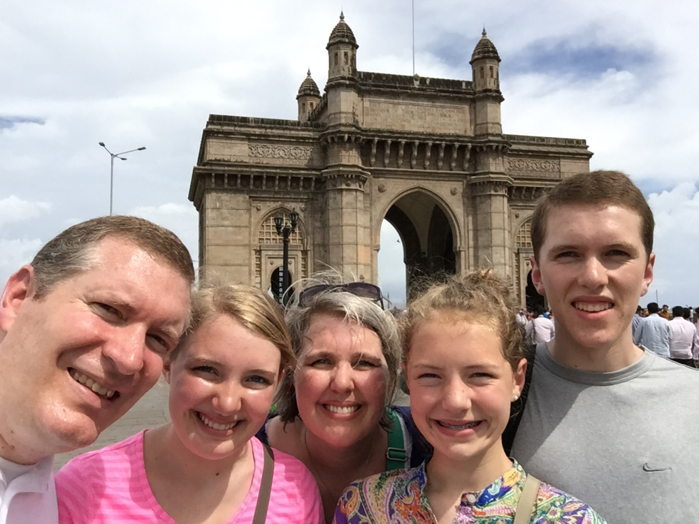 At the Gateway of India in Mumbai.