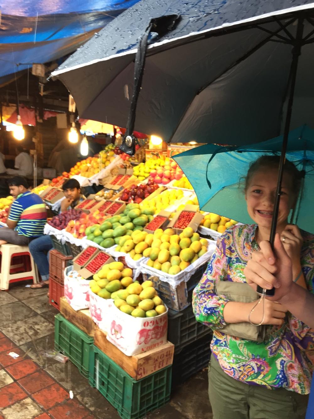Camilla in Mumbai's Crawford Market