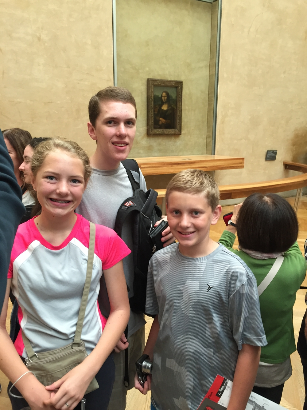 We think that the Mona Lisa is smiling...
