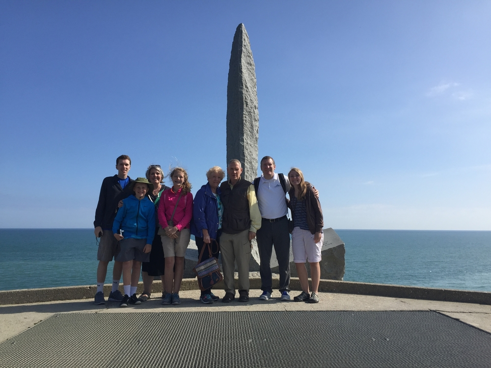 Pointe du Hoc at Normandy.