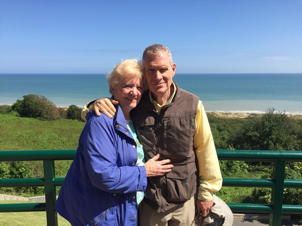 Grandma and Grandpa at Omaha Beachat Normandy.