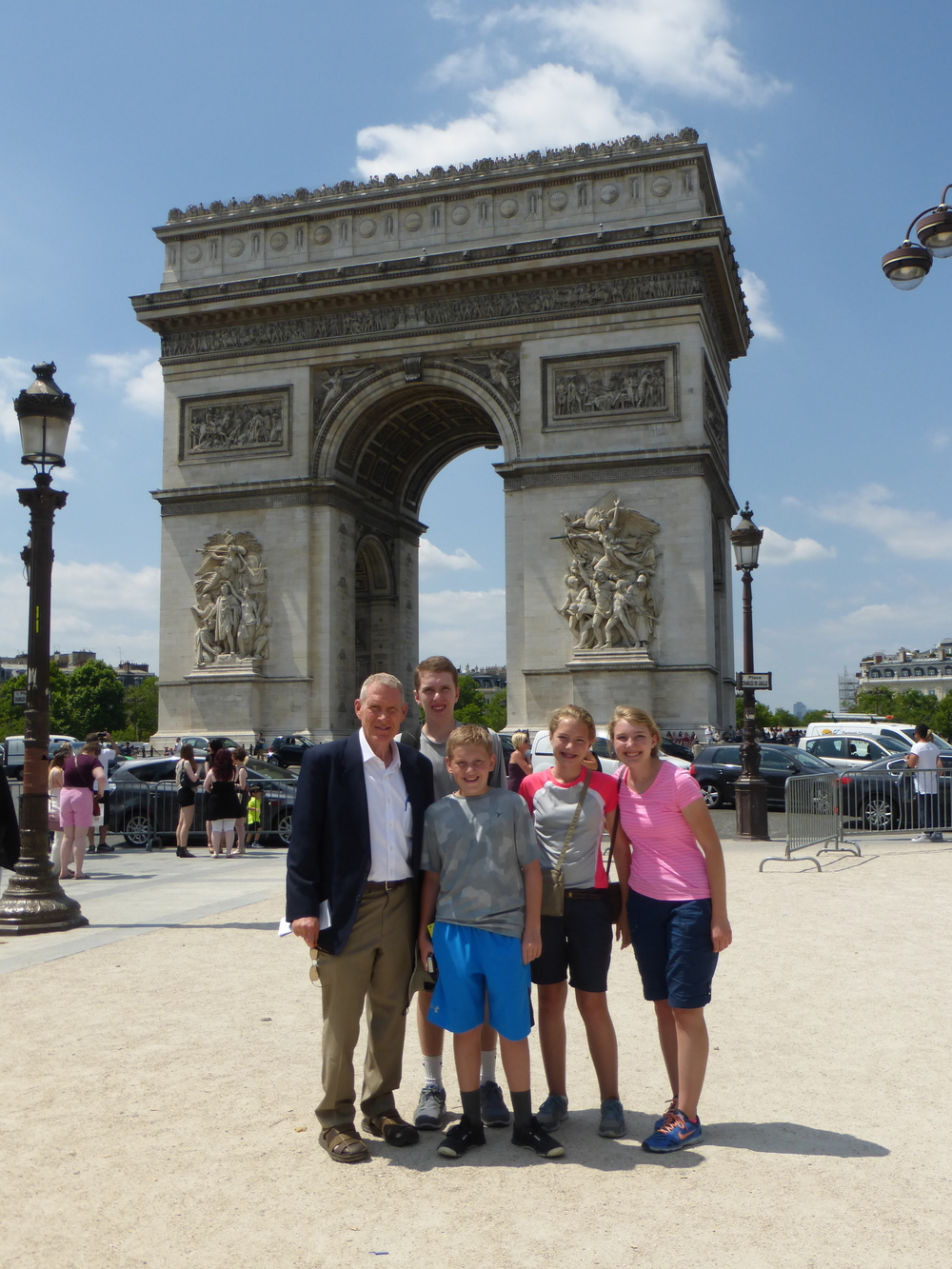At the Arc de Triomphe.