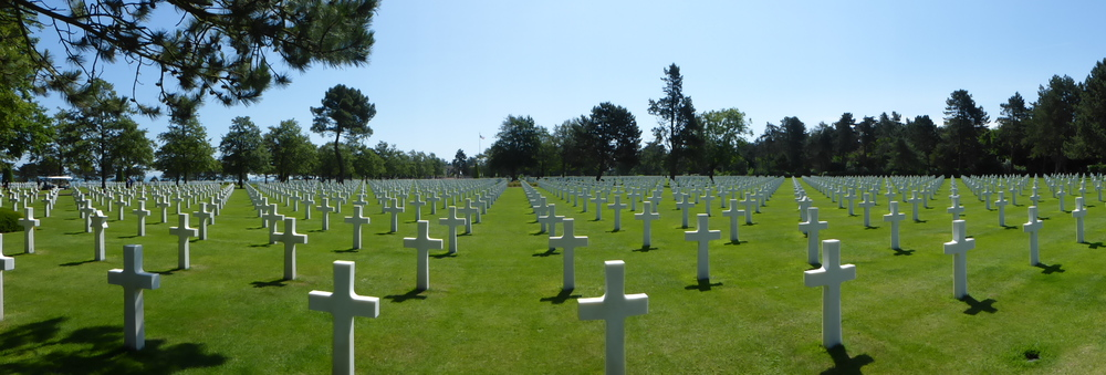 A panoramic view of the Normandy American Memorial.  So touching.