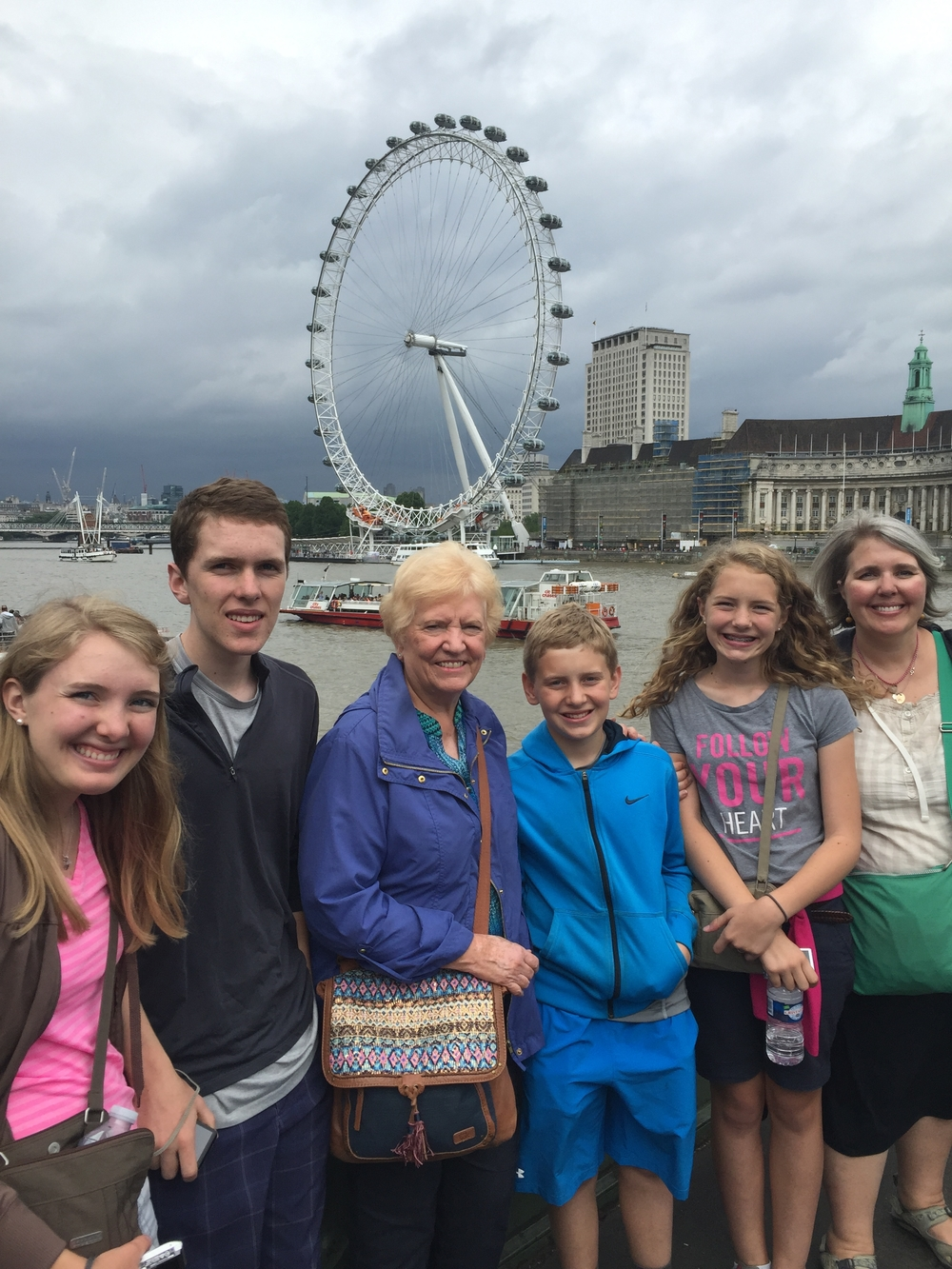 The London Eye in the background