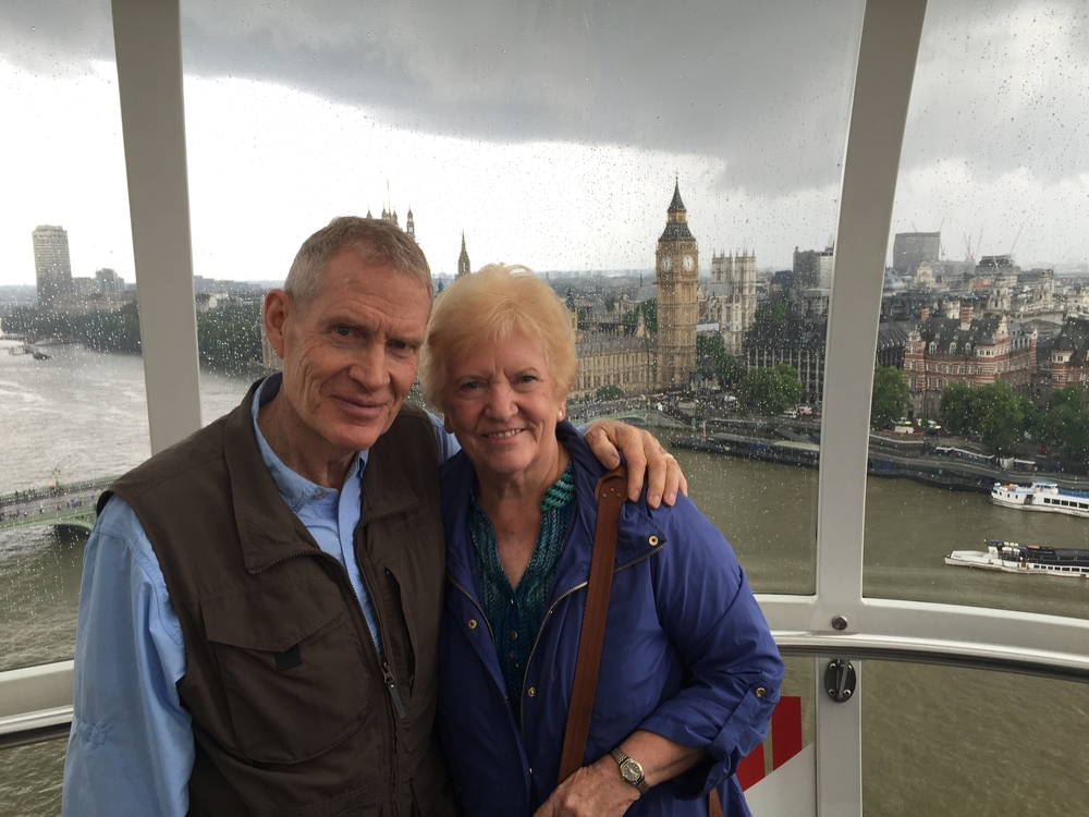 Grandma and Grandpa on the London Eye