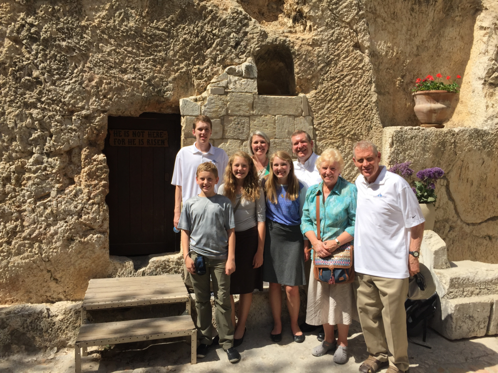 Our family at the garden tomb.  He is risen!