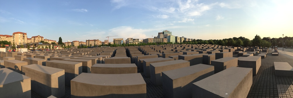 This at the Holocaust memorial in Berlin