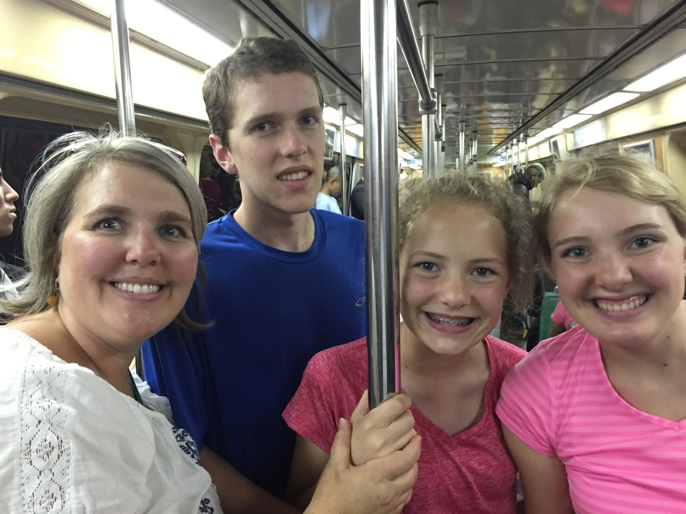 Our last metro ride of the trip.