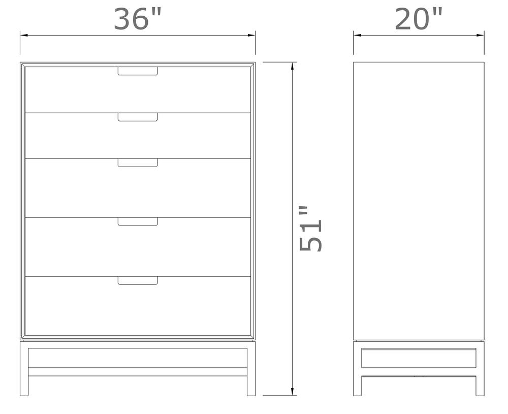 """Forde Dresser   51   """" high x 36"""" wide x 20  """" deep  $1,880.00"""
