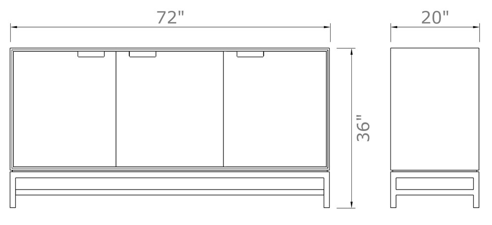 """Forde Sideboard with Doors 36"""" high x 72"""" wide x 20"""" deep $2,190.00 - $2,300.00"""