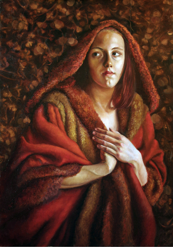 Red Riding Hood, 36 x 25, Oil on Panel