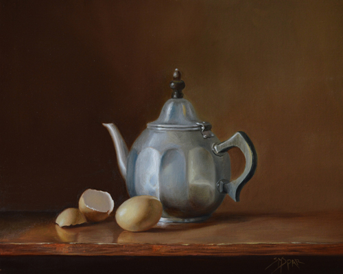 Tea for One, 11 x 14, Oil on Linen Panel