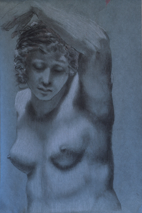 Prud'hon Master Copy, Charcoal and White Chalk, Madeline Bryant