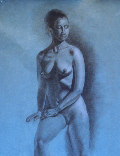 Life Drawing, Charcoal and White Chalk, Martha Rudersdorf