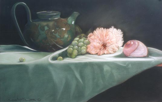 "Green Tea, 11"" x 16"", Pastel"
