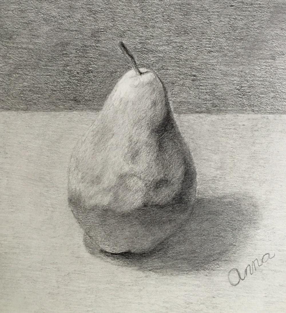 Pear, Graphite, Anna Nivens