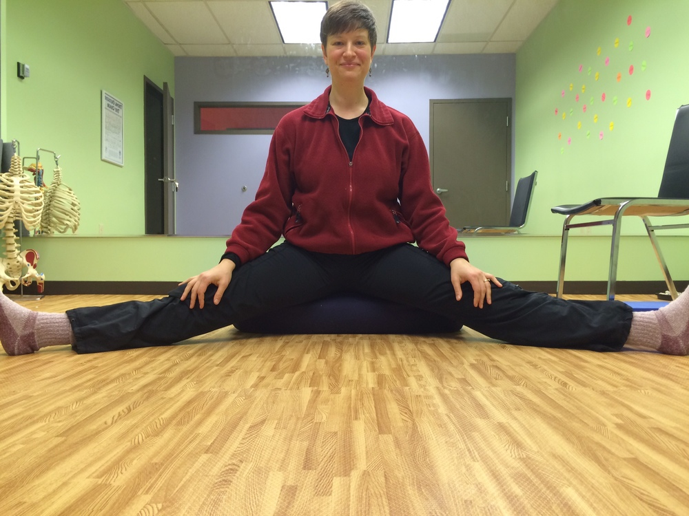 Stretch your inner thighs while you sit!