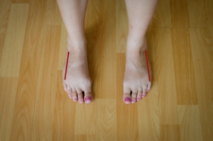 1.  Straighten your feet