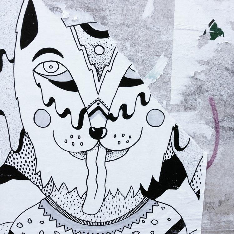 bigote sucio cat gato granada street art