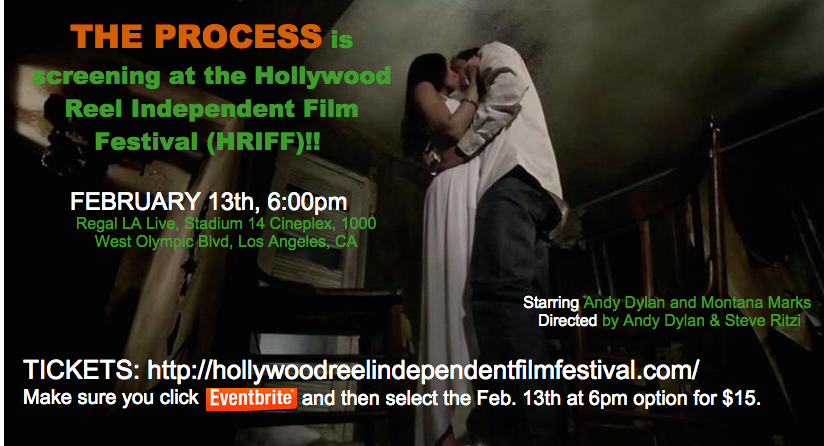 "The Process in HRIFF in Hollywood   ""The Process"" screened at the Hollywood Reel Independent Film Festival right in Hollywood! It was shot in Atlanta, GA, on one of the sets also used in the film ""Prisoners"" starring Jake Gyllenhaal and Hugh Jackman."
