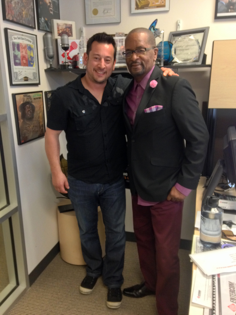 Jason Wall, Founder/Executive Director of FYR, with Gerry Dove, host of Listen Up Bay Area