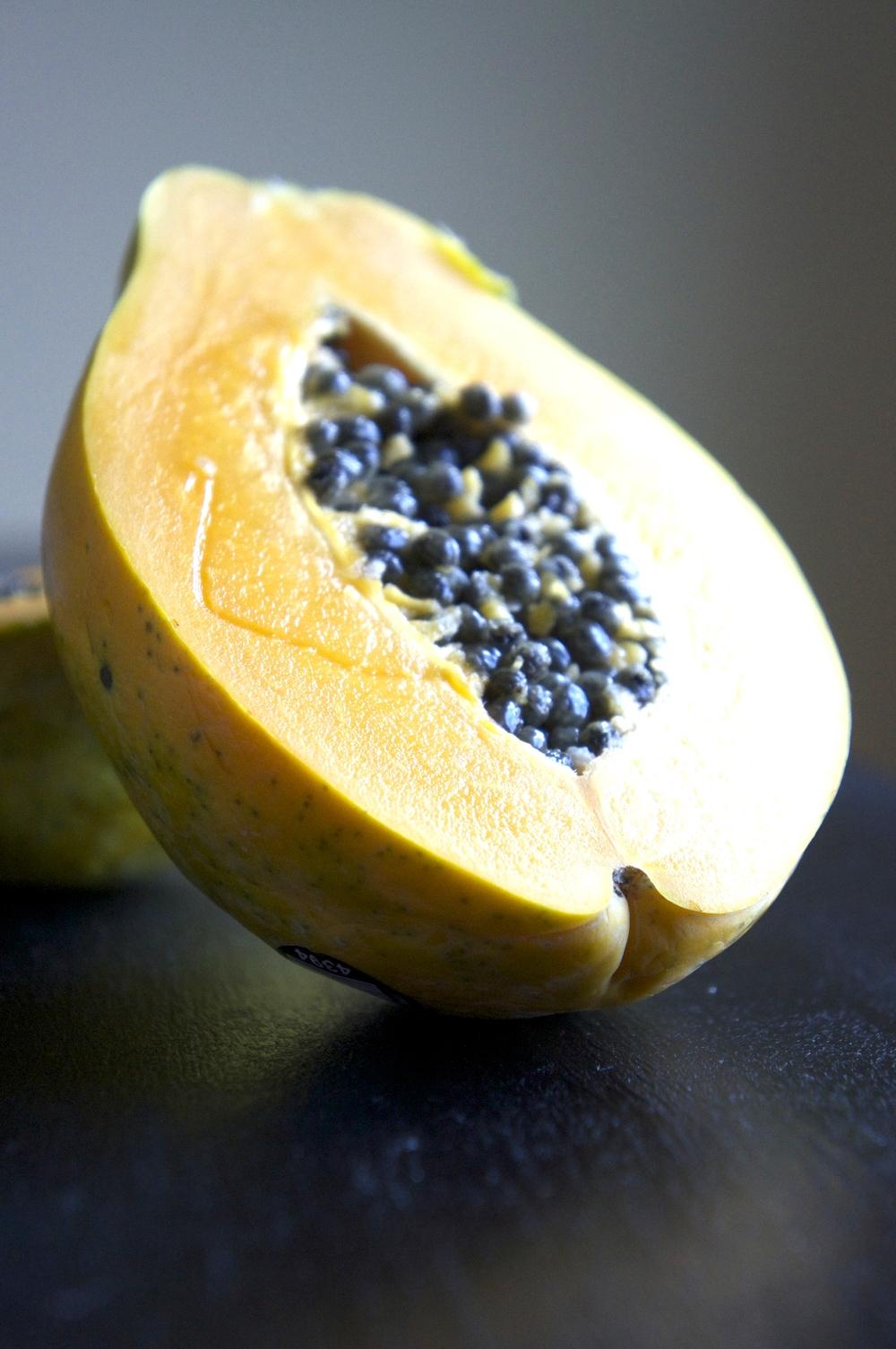 Slice papaya