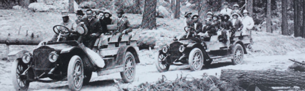 In 1912 the Mountain Auto Line and the Shay & Brooks auto line brought passengers to Big Bear Lake
