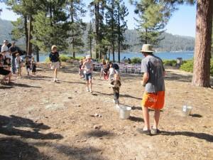 Centennial Picnic -- kids' water relay