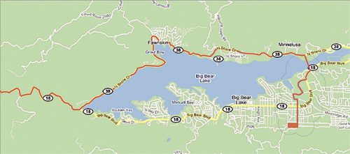 Amgen Tour of California 2012 Map - Big Bear Stage 6