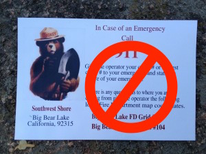 Big Bear Lake Fire Map.Emergency Services Big Bear Southwest Shore