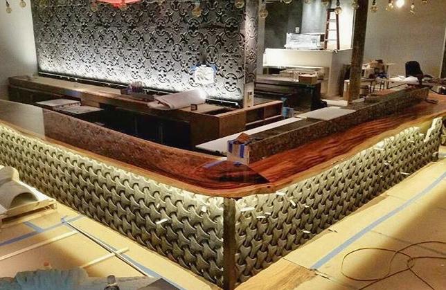 55 ft bar top custom built for Ruka, Boston