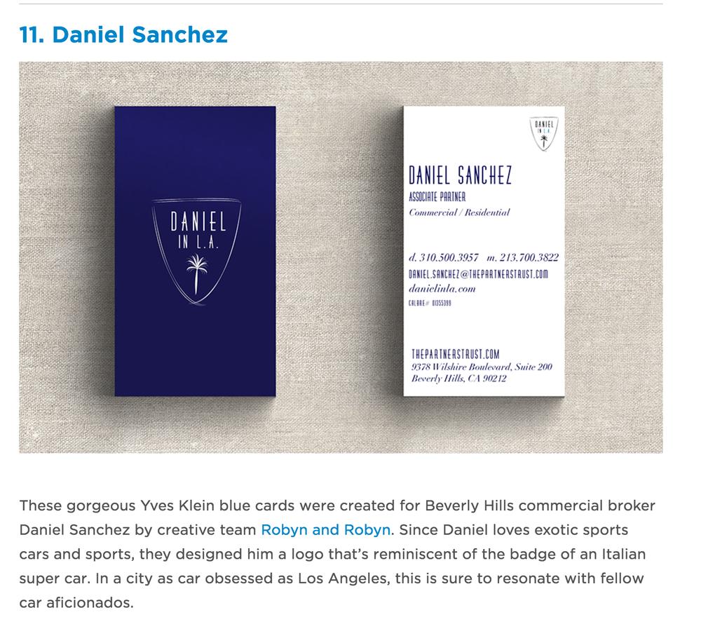 25 Real Estate Business Cards We Love — Daniel In L.A.