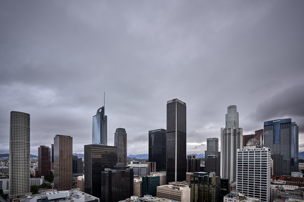 Rainy weather hit the city on Tuesday morning.