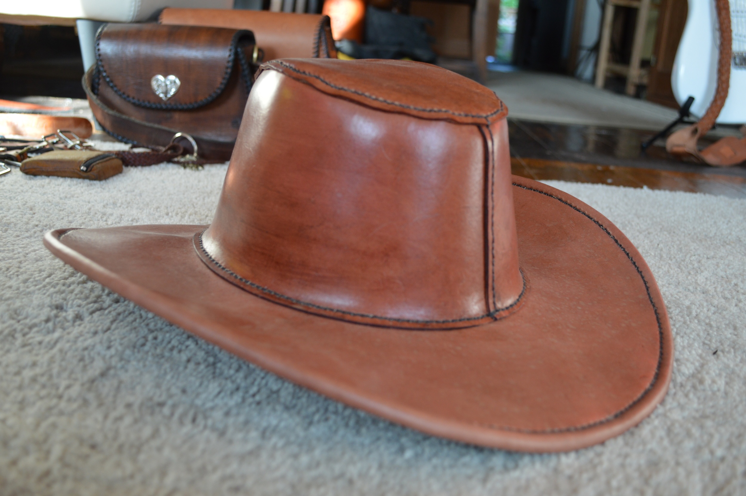 d1019ad255fba Leather Hat — Evans Custom Leather Creations